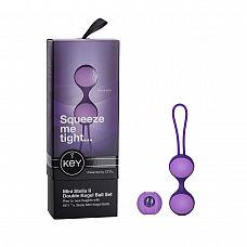Фиолетовые вагинальные шарики MINI STELLA II KEGEL BALLS    Вагинальные шарики выполнены из экологичных и гипоаллергенных материалов: пластика (plastic) и силикона (silicon).