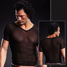 Сетчатая футболка  Классическая футболка с V-образным вырезом из сетки.