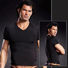 Мужская футболка  Мужская футболка с V-образным вырезом горловины.