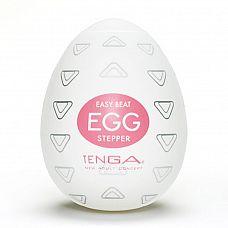 Мастурбатор Tenga Egg Stepper  Tenga Egg Stepper обладает множеством множеством выступающих tpeугольничков, которые расположены под разными углами и призваны максимально стимулировать пенис.