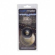 Чёрное эрекционное кольцо Gladiator  Чёрное эрекционное кольцо Gladiator.