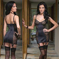Платье с леопардовыми вставками  Приталенное платье создает ощущение легкости и комфорта.