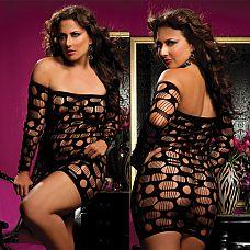 Облегающее платье SEXY DRIVE  Облегающее ультракороткое платье с открытыми плечами, рукава платья длинные.