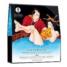 Соль для ванны Lovebath Ocean temptation, превращающая воду в гель - 650 гр.   Соль для ванны Lovebath Ocean temptation, превращающая воду в гель.