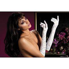 Перчатки из цветочного гипюра  Красивые нежные перчатки из гипюра с цветочным рисунком, длина перчаток - до локтя.
