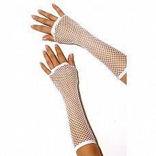 Длинные перчатки в сетку  Длинные перчатки до локтя из сетчатого полотна.