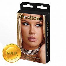 Ошейник из кристаллов 7 Row Rhinestone Classic Choker  Стильный широкий ошейник из сияющих кристаллов с золотым металлом, состоящий из семи рядов.