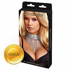 Шикарное ожерелье Queen  Хочешь почувствовать себя королевой? Теперь это очень просто! Шикарное ожерелье от Ann Devine из ярких, сверкающих прозрачных кристаллов с золотым металлом.