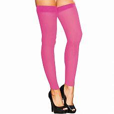 Высокие розовые гетры на узкой резинке  Яркие розовые гетры цвета сладкой конфетки плотно облегают ножки.