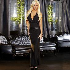 Черное вечернее платье в пол с открытой спиной  Вечернее платье черного цвета с эротичным декольте и открытой спиной.