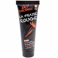 Лубрикант со вкусом клубники Erotic Fantasy La Fraise Rouge - 30 мл.  Качественный лубрикант, произведенный на высокотехнологичной косметической фабрике в Швейцарии, на мягкой и нежной водной основе с ароматом и сладким вкусом спелой красной клубники.