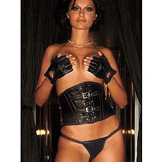 Короткие кожаные перчатки без пальцев  Перчатки из мягкой кожи застегиваются на запястье на липучку с надписью HUSTLER.