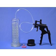Вакуумный массажер-помпа для мужчин Thunder Pump  Вакуумный массажер-помпа для мужчин. Создает хорошую степень разрежения в колбе за счет удобного ручного механизма выкачивания воздуха. Силиконовая насадка с мягкими шишечками внутри колбы дополнительно стимулирует половой член и способствует возникновению более полной эрекции. В комплекте прилагается насадка на помпу из латекса, которая сделает использование помпы еще более приятным.