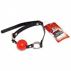 Силиконовый красный кляп-шарик на ремне Red Ballgag  Кляп в виде силиконового шарика красного цвета на черном ремне из искусственной кожи.