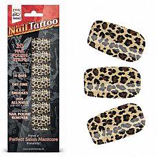 Набор лаковых полосок для ногтей Леопард Nail Foil  Набор из 20 потрясающих наклеек на ногти с лаковым покрытием, создающих эффект превосходного салонного маникюра! Простой в нанесении маникюр отлично держится до 10 дней.