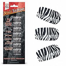 Набор лаковых полосок для ногтей Зебра Nail Foil  Набор из 20 потрясающих наклеек на ногти с лаковым покрытием, создающих эффект превосходного салонного маникюра! Простой в нанесении маникюр отлично держится до 10 дней.
