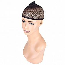 Черная сетка для волос под парик  Сетка черного цвета, которая позволяет скрыть и уложить собственные волосы при носке парика.