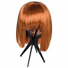 Складная подставка для парика  Удобная складная подставка для демонстрации и хранения париков, сделанная из крепкого, но легкого пластика.