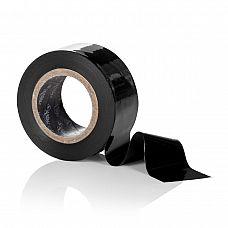 Чёрный скотч для связывания Scandal Lovers Tape  Скотч - лента черная Scandal Lovers Tape - многоразовая, универсальная из чувственной премиум коллекции эротических аксессуаров Scandal.