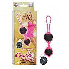 Чёрные вагинальные шарики из силикона Coco Licious Kegel Balls   Вагинальные шарики из силикона Coco Licious Kegel Balls - Pink Balls для укрепления мышц любви.