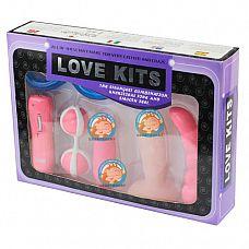 Розовый вибронабор в коробке  В набор входят: виброяйцо, вагинальные шарики, анальный стимулятор, 3 различных фаллоимитатора.