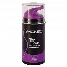 Лубрикант для игрушек Wicked Toy Love - 100 мл.  Удобный и качественный лубрикант в упаковке с помпой для комфорта в использовании.