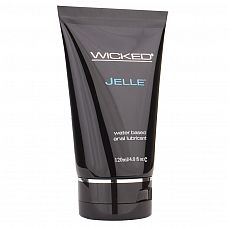 Анальный лубрикант Wicked Jelle на водной основе - 120 мл.  Плотный анальный лубрикант на водной основе с уникальными свойствами скольжения.