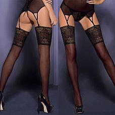 Чулки с широким цветочным кружевом Intensa Stockings  Когда надеваешь их, то чувствуешь, как они деликатно окутывают твое тело.