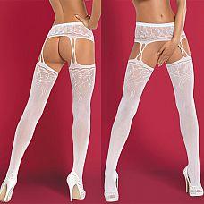 Чулочки с поясом Garter Stockings  Сексуальная красная комбинация для незабываемой ночи из эластичного, прозрачного, красного кружева.