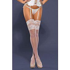 Невысокие чулочки с широким кружевом  Тонкие, низкие чулки, предназначенные для ношения с поясом.