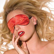 Красная маска на глаза  Эротичная маска на глаза на эластичной резинке.