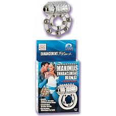 Эрекционное кольцо с массажными шариками и мини вибратором  Эрекционное кольцо с массажными шариками и стимулятором клитора с водонепроницаемым мини вибратором. Батарейки в комплекте.