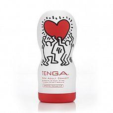 Мастурбатор Keith Haring Original Vacuum  Реалистичные ощущения самого глубокого минета: Tenga Keith Haring Original Vacuum для больших пенисов.