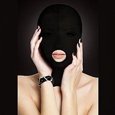 Закрытая маска на лицо с отверстием для рта Submission  Аксессуар БДСМ позволит расслабиться и осуществить задуманные фантазии.
