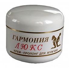 Крем-пролонгатор Гармония-Люкс для мужчин, 15 мл.  Крем-пролонгатор задерживающий эякуляцию. Легко впитывающийся крем приятной консистенции и аромата. Обладает питательным и регенерирующим действием, что особенно важно при интенсивной половой жизни. Применение крема совместимо с изделиями из резины и латекса (презерватив, искусственная вагина), а также смазками.