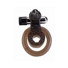 Эрекционное кольцо с вибратором *Слоник*  Кольцо эрекционное с минивибратором и подхватыванием мошонки *Слоник*