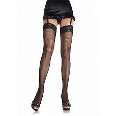 Сетчатые чулочки с кружевом Fishnet Stockings  Сетчатые чулочки, благодаря кружевной резинке, плотно сидят на ноге.