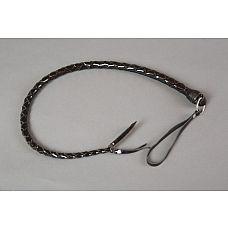 Однохвостная лакированная плеть - 60 см.  Плеть однохвостая из черной лакированной кожи.