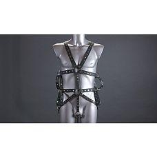 Мужской комплект для фиксации рук  Комплект для фиксации выполнен из профурнетуренных ремней и стальных колец.