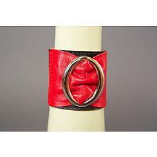 Красно-чёрный кожаный браслет с овальной пряжкой  Красно-чёрный кожаный браслет с овальной пряжкой.