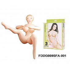 Надувная кукла Келли Кармелл   Большая грудь с эрегированными сосками.