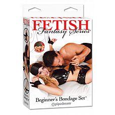 Комплект для связывания Beginners Bondage Kit  Набор для эротических игр, состоящий из оков на руки и ноги, с веревками для привязывания.