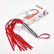 Плеть красная  6020-2  Плеть мини изготовлена из натурального латекса, имеет 10-12 хвостов длиной 25-30см.