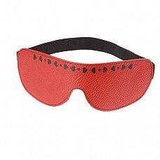 Красная кожаная маска с сердечками и велюровой подкладкой  Изготовлена из натуральной кожи с велюровой подкладкой.