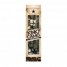 Камуфлированный ошейник с поводком Kinky Camo   Ошейник с поводком Kinky Camo - полное управление и доминирование.