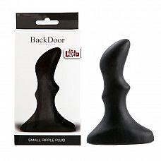 Рифленый черный анальный стимулятор Small ripple plug - 10 см.  Анальная пробка прекрасно подойдет для подготовки к сексу, использование ее в любовной прелюдии поможет расслабится и привыкнуть к новым ощущениям, а небольшие Размеры исключат возможность травм.