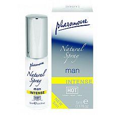 Мужской спрей с феромонами Natural Spray Intense - 5 мл.   Этот спрей одной каплей вдохновит женщину на любовные подвиги.