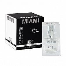 Мужские духи с феромонами Miami Spisy Man - 30 мл.  Базовые ноты беззаботного, полного утех Майами № пачули, жасмин и лавр.
