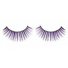 Чёрно-фиолетовые пушистые ресницы  Веерообразные ресницы ручной работы с длинными и более короткими ресничками черного и лилового цветов.