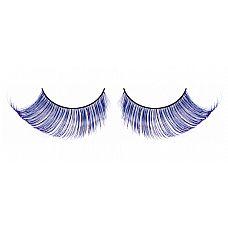 Светло-синие ресницы-перья  Очень элегантные длинные и густые ресницы из мягких высококачественных перьев ручной обработки, выполненные в лиловом и синем цветах, подкрученные по краям.